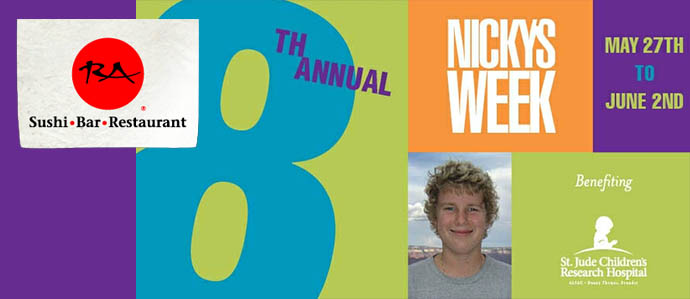 RA Sushi to Host 8th Annual Nicky's Week, May 27-June 2