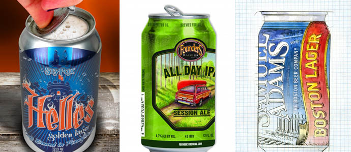 Can Revolution: Sly Fox 360, Founders All Day IPA, Sam Adams Boston Lager