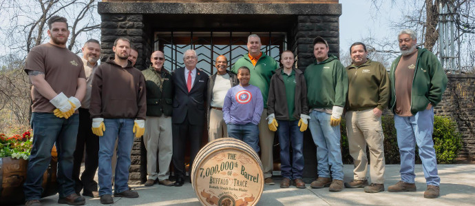 Buffalo Trace Just Celebrated Seven Million Barrels Since Prohibition